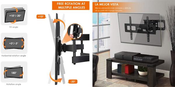 """Soporte de pared Simbr extensible e inclinable para TV de 32""""-70"""" chollo en Amazon"""