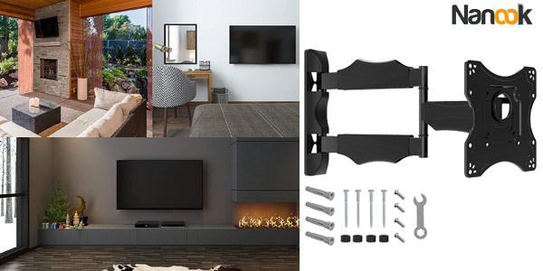 """Soporte de pared para TV de 19"""" a 43"""" Nanook barato en Amazon"""