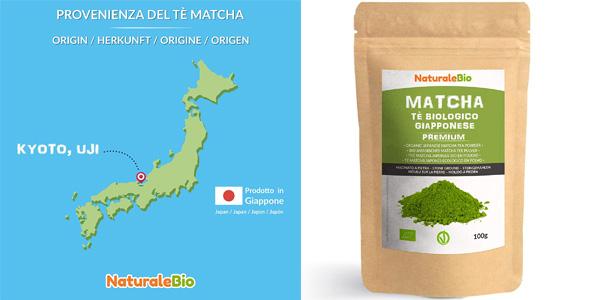 Té verde en polvo Matcha NaturaleBio de 100 gr barato en Amazon