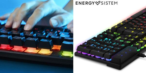 Teclado de membrana retroiluminado Energy Sistem Gaming K2 Ghosthunter oferta en Amazon