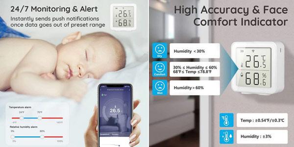 Termómetro higrómetro inteligente Tuya con pantalla LCD oferta en AliExpress