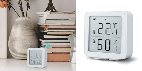 Termómetro higrómetro inteligente Tuya con pantalla LCD barato en AliExpress