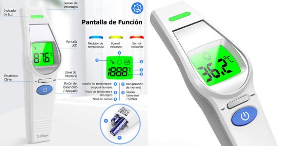 Termómetro XDhope infrarrojo sin contacto barato en Amazon