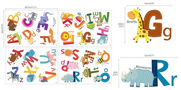 vinilo infantil letras abecederaio Decowall DS 8002 oferta