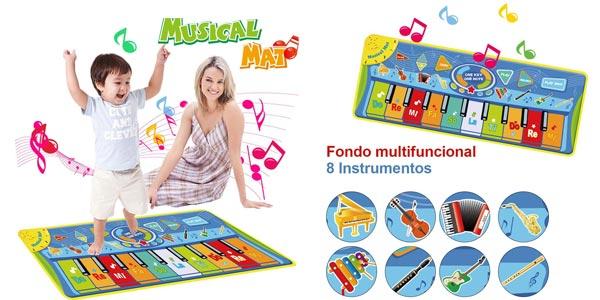 Alfombra piano para niños barata en Amazon
