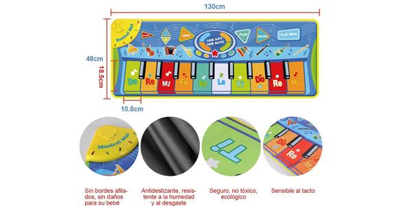Alfombra piano para niños chollo en Amazon