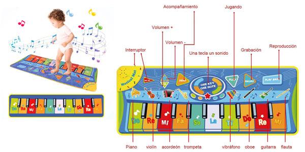 Alfombra piano para niños oferta en Amazon