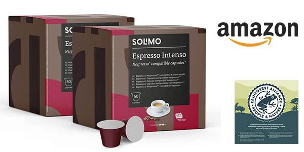 Amazon Solimo Espresso Intenso cápsulas baratas