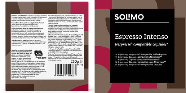 Amazon Solimo Espresso Intenso cápsulas compatibles Nespresso chollo