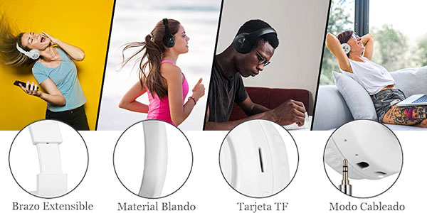 Auriculares Bluetooth Sendowtek con cancelación de ruido chollo en Amazon