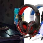 Auriculares gaming QearFun con micrófono y cancelación de ruido baratos en AliExpress