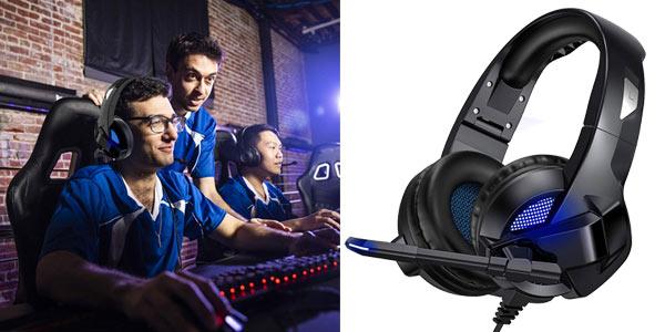 Auriculares gaming TedGem con micrófono incorporado baratos en Amazon