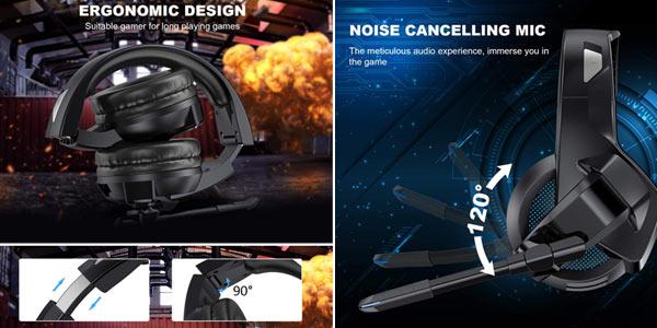 Auriculares gaming TedGem con micrófono incorporado chollo en Amazon