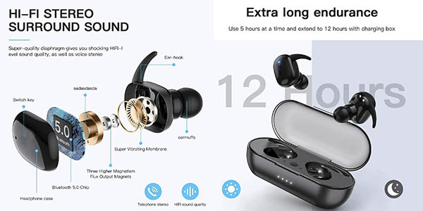 auriculares inalámbricos Bluetooth Sonitum baratos