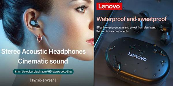 Auriculares inalámbricos in-ear Lenovo TWS XT91 con estuche de carga y micrófono con reducción de ruido oferta en AliExpress