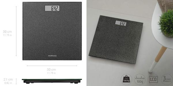 Báscula de baño digital Medisana PS 500 Glitter hasta 180 kg oferta en Amazon