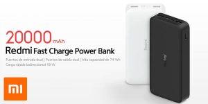 Batería portátil Xiaomi Redmi de 20.000 mAh QC 3.0