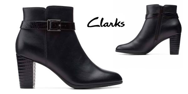 Botines de tacón Clarks Alayna Juno para mujer baratos en Amazon