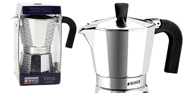 Cafetera de 6 tazas Monix Vitro en aluminio barata en Amazon
