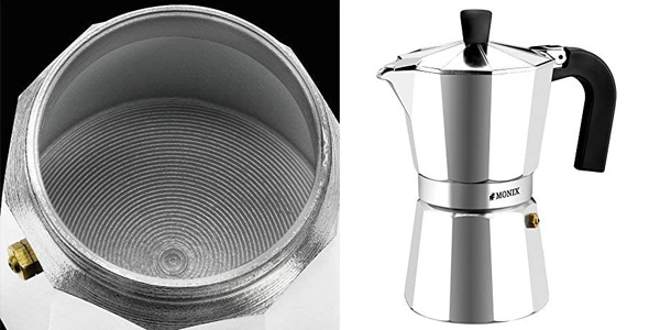Cafetera de 6 tazas Monix Vitro en aluminio chollo en Amazon