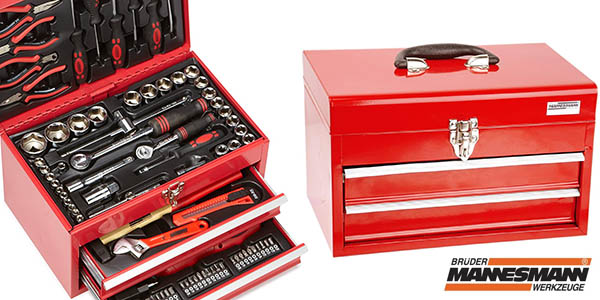 Caja de herramientas Mannesmann M29066 con 155 piezas
