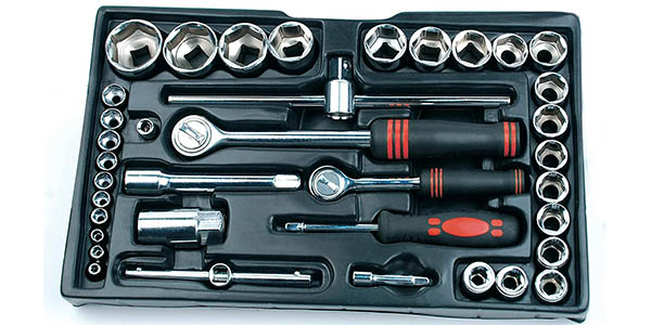 Caja de herramientas Mannesmann M29066 con 155 piezas barata