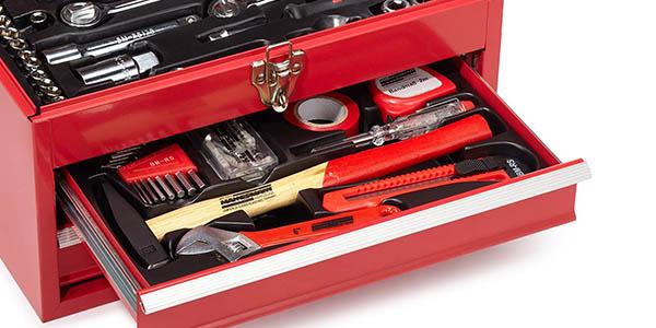 Caja de herramientas Mannesmann M29066 con 155 piezas en Amazon