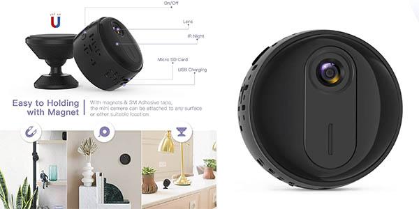 cámara sensor vigilancia Walmeck visión nocturna chollo