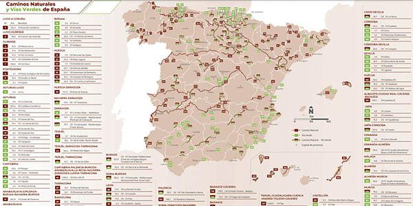 caminos Naturales Vías Verdes España folleto descarga gratuita