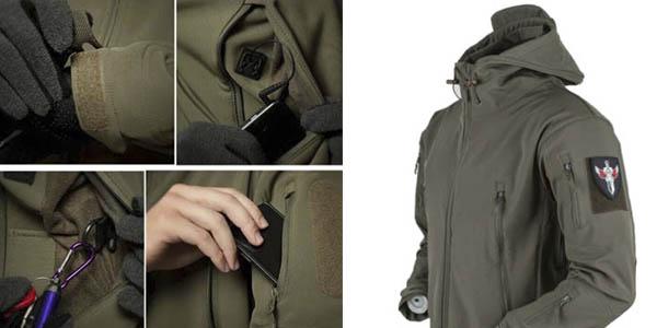chaqueta forro polar impermeable oferta