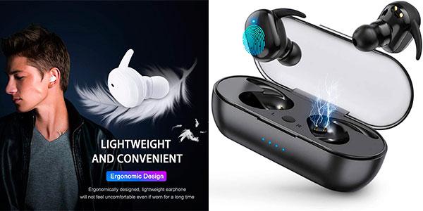 Chollo Auriculares WTS Bluetooth Ssmnr con estuche de carga