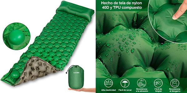 Chollo Esterilla inflable Zacro con bomba de pie