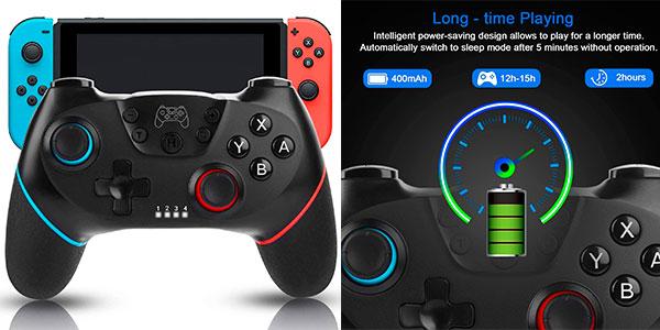 Chollo Mando inalámbrico Sendowtek con turbo y vibración para Switch