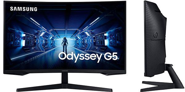 Chollo Monitor gaming curvo Samsung Odyssey G5 de 27'' WQHD