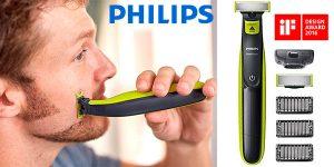 Chollo Recortador de barba Philips QP2520/30 OneBlade recargable
