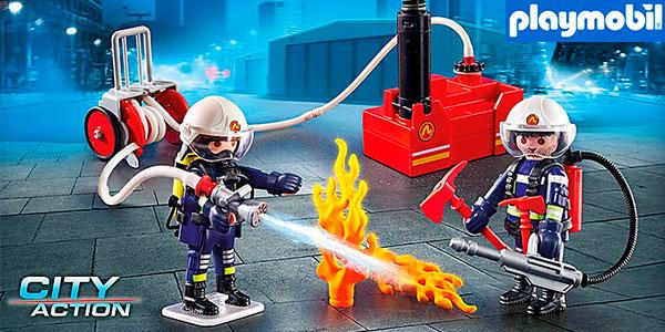 Chollo Set Bomberos con bomba de agua de Playmobil