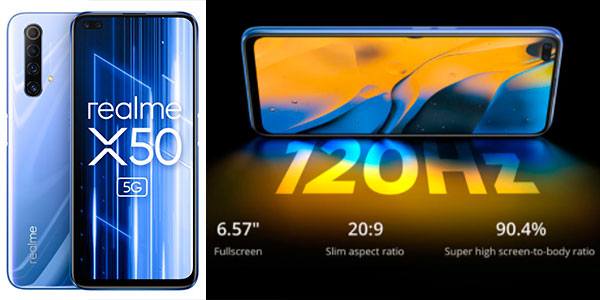 "Chollo Realme X50 5G de 6.57"" [6GB + 128GB]"
