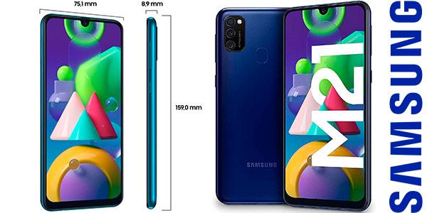 """Chollo Samsung Galaxy M21 de 6.4"""" FHD [4 GB + 64 GB] con triple cámara y batería de 6.000 mAh"""