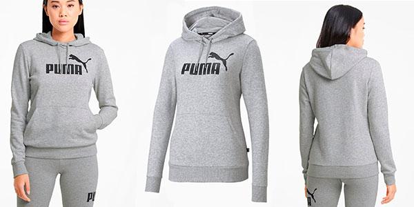 Chollo Sudadera Puma Essentials Logo con capucha para mujer