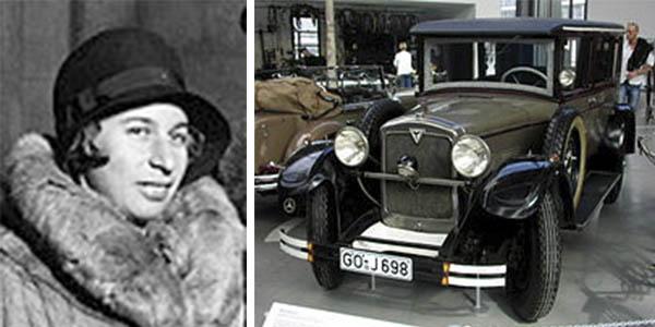 Clärenone Stinnes mujer piloto coche viajera