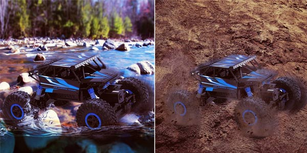 Coche de control remoto Top Race RC Monster truck 4WD de 2.4 GHZ chollo en Amazon