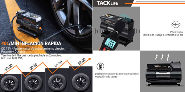 Compresor de aire Tacklife M1 chollo en Amazon