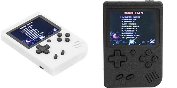 Consola portátil con 400 juegos clásicos