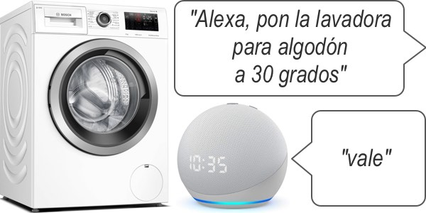 control domótico en lavadora inteligente Home Connect