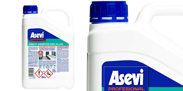 Desinfectante concentrado Asevi Profesional Gerpostar Plus de 5 kg barato en Amazon