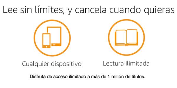 Kindle Unlimited lectura ilimitada de libros digitales