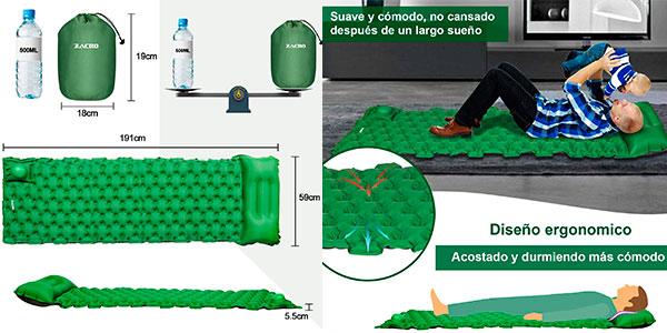 Esterilla inflable Zacro con bomba de pie barata