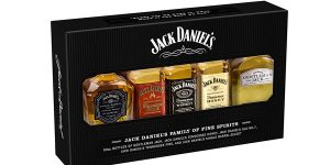 Pack 5 botellitas Jack Daniel's Family of Fine Spirits de 50 ml/ud barato en Amazon