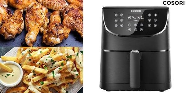 Freidora sin aceite Cosori Air Fryer de 5,5 litros y 1.700W barata en Amazon