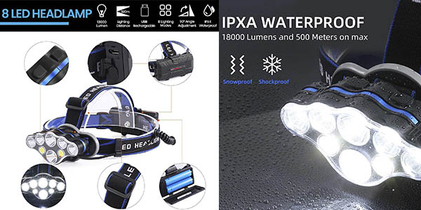 frontal LED Outal potente chollo